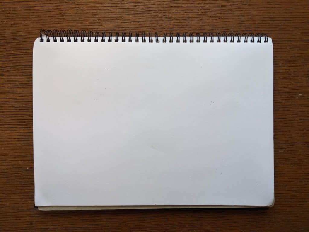 A blank piece of paper.