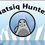 """A graphic with a seal and the text """"Natsiq Hunter."""""""