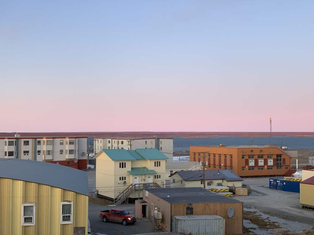 The view overlooking Rankin Inlet, NU.