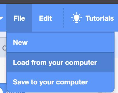 Scratch file drop down.