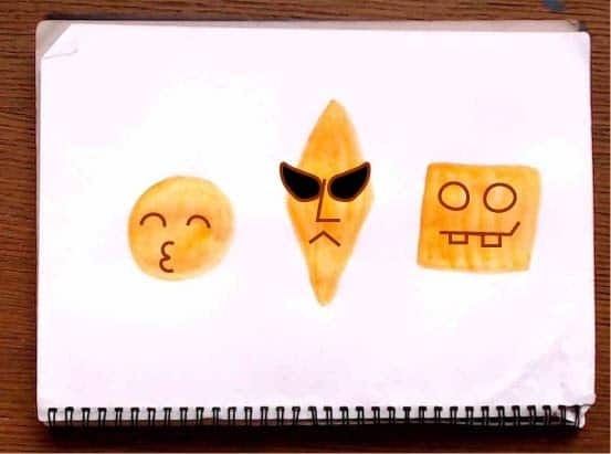 Painted blob art characters.
