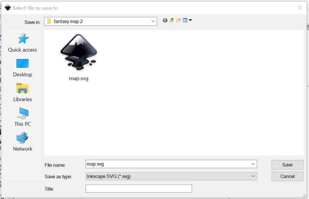 Inkscape file in a desktop folder.