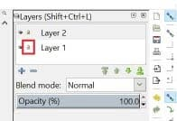 Layer lock or unlock button in Inkscape.