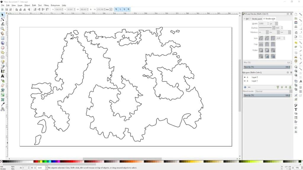 A map created in Inkscape.