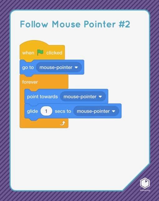 Follow mouse pointer Scratch card.