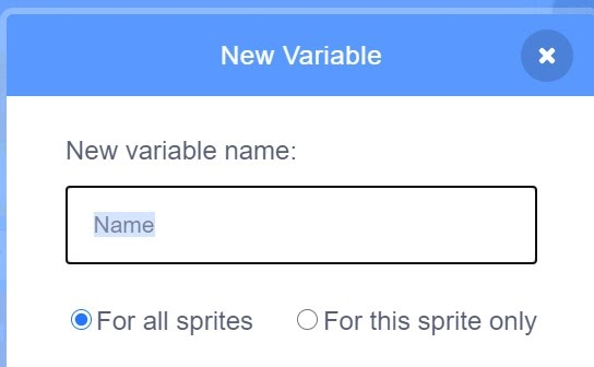 Option to change your variable name