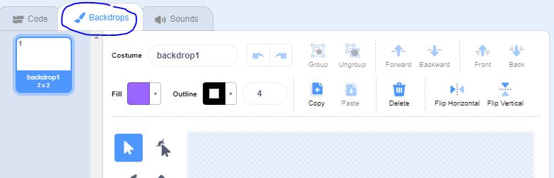 A screenshot of the Scratch interface.