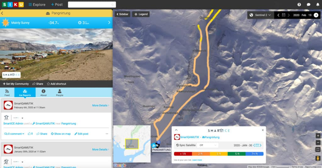 SmartICE being used through SIKU application