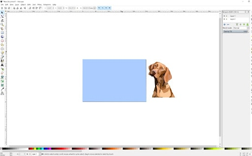 A screenshot of the Inkscape interface.