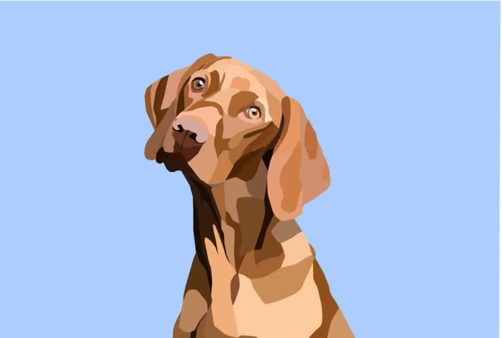 Art of a dog created in Inkscape.