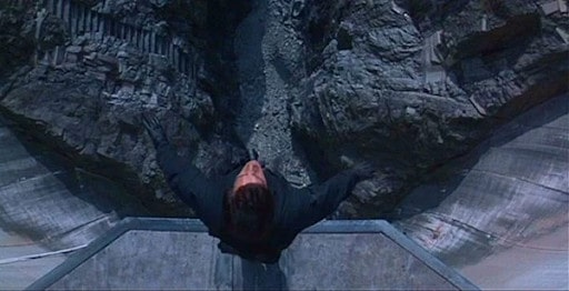 An overhead shot from a movie.