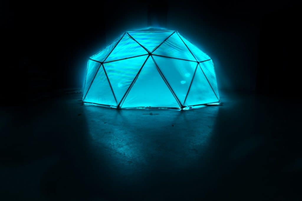 Dome illuminated by light