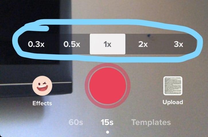 The TikTok video timing settings.