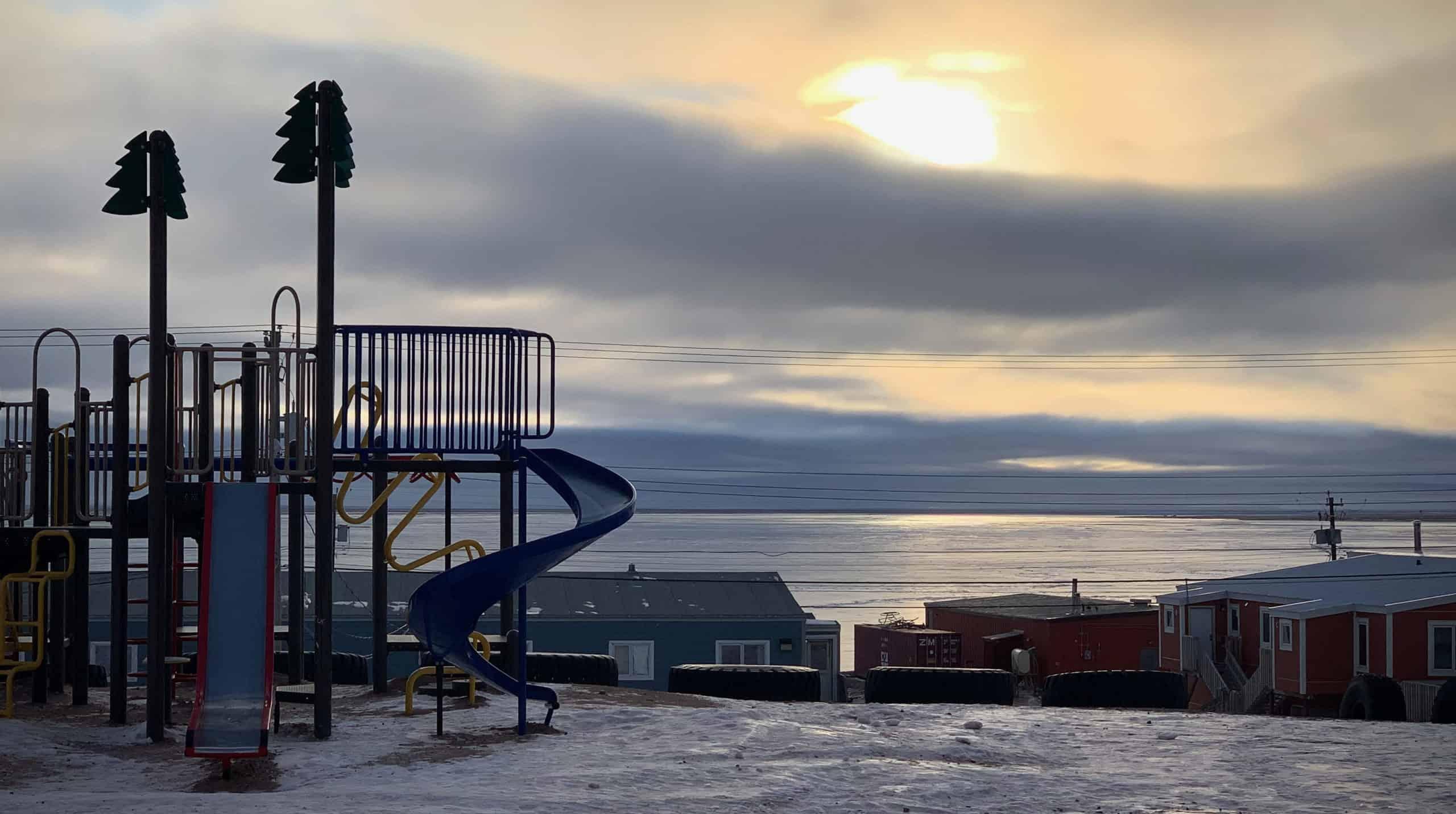 A playground in Nunavut.