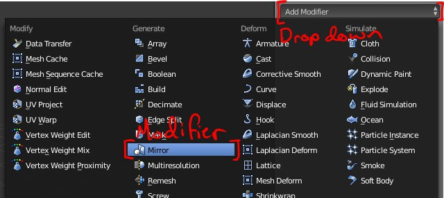 The modifier icon highlighted in the Blender interface.