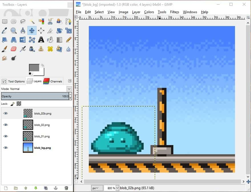A screenshot of the GIMP interface.