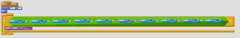 Scratch code blocks that switch the backdrop when the green flag is clicked.