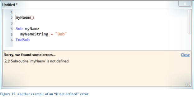 """Another example of an """"is not defined"""" error."""