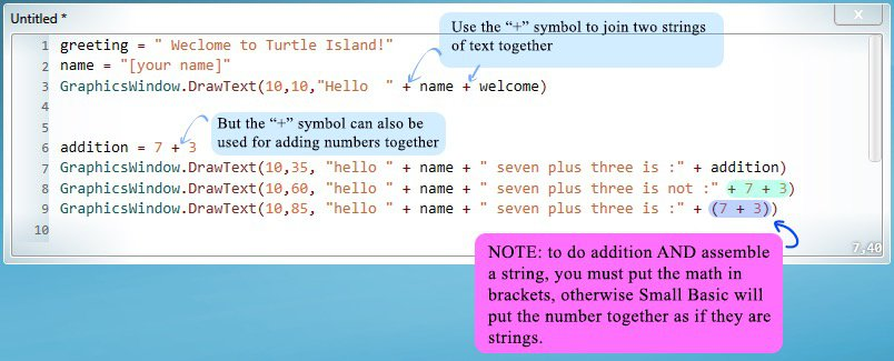 Code example of conditional statements.