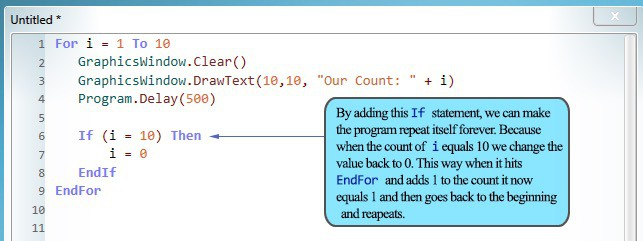 Code example with subroutines.