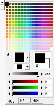 Colour Pallet window