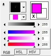 RGB slider window