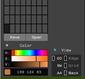View options location in Magicavoxel.