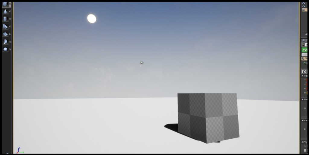 Current project of box with light source coming from the top left