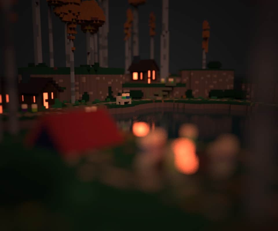 Shallow depth of field being added to a project in MagicaVoxel.