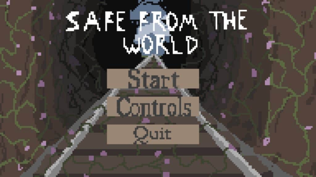 Opening menu of a game giving user option to Start, setup controls or quit