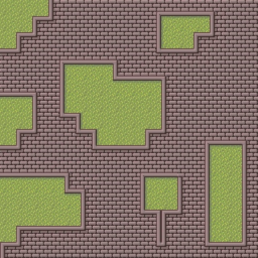 Level designed using the tile sets layered in a variety of ways