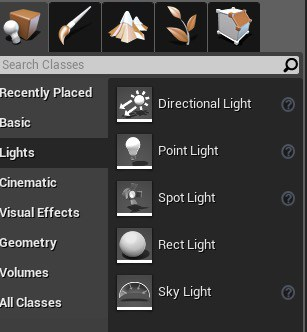 Placing lights with the Directional Light selected