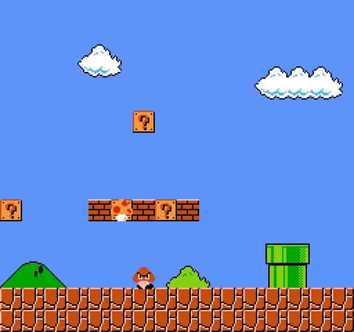 A level created in Mario Maker.