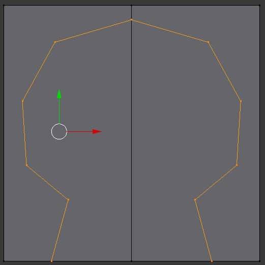 A mirrored design in Blender.