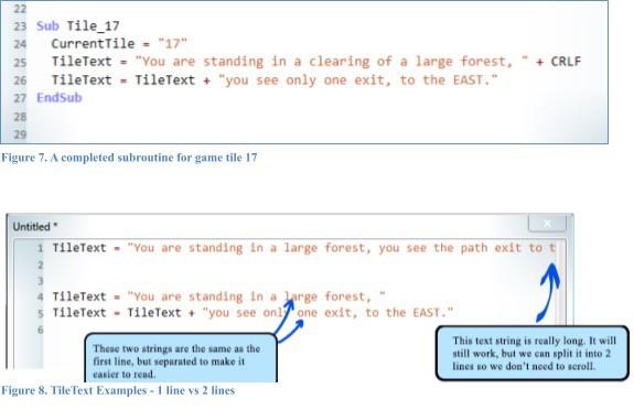 A screenshot of work in progress in Small Basic.