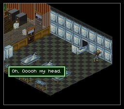 Isometric perspective of Shadowrun for SNES