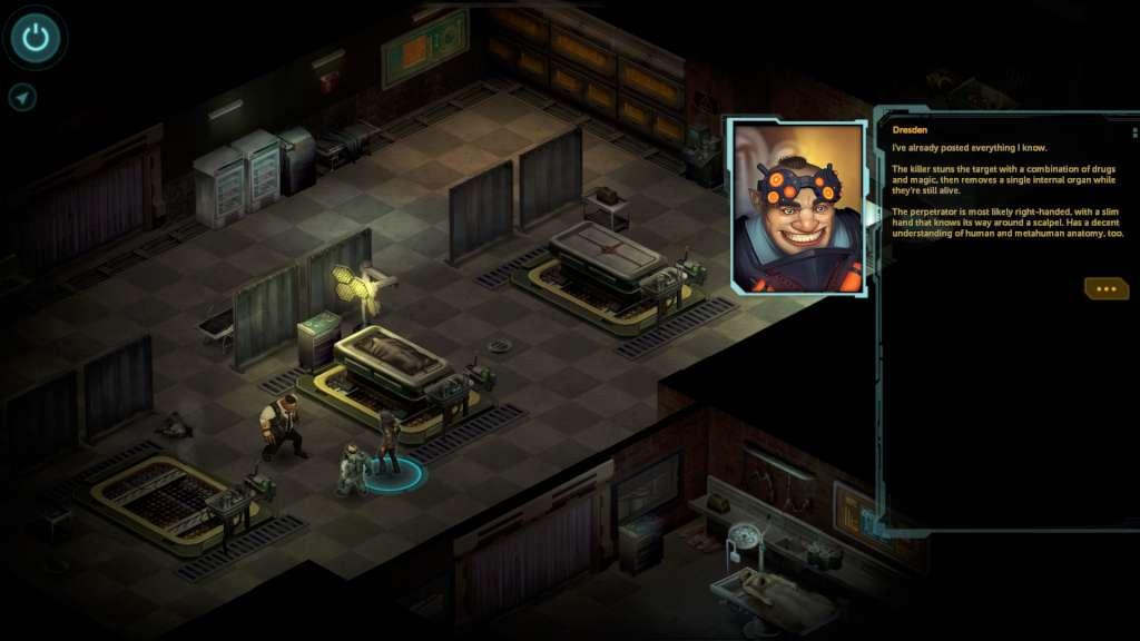 Isometric perspective of Shadowrun Returns for PC