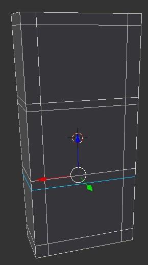 A rectangle cut in Blender.