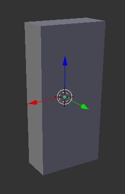 A basic rectangle model in Blender.