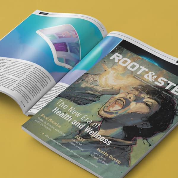 Print copies of the second issue of Root & STEM.