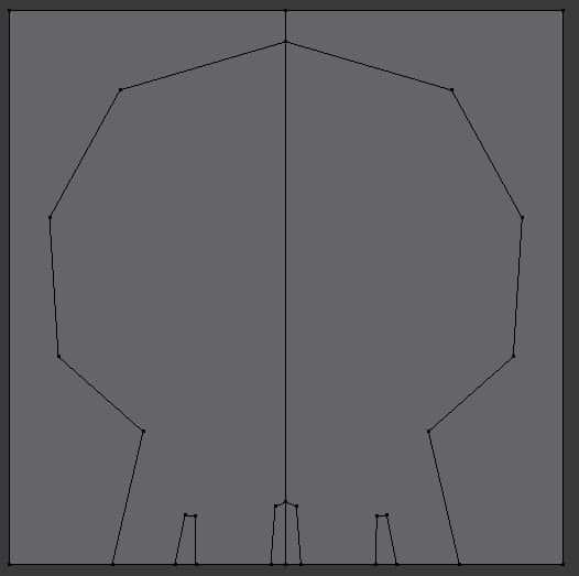 Skull design process in Blender.