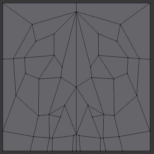 Skull design progress in Blender.