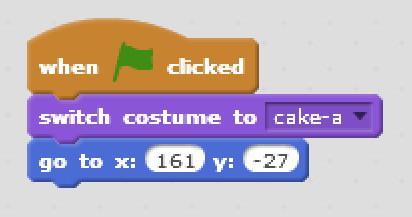 A group of blocks in Scratch.