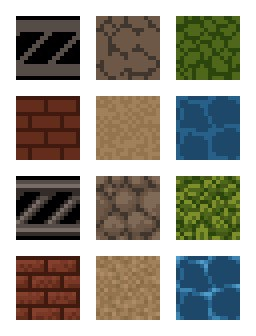 Variety of variant tiles examples