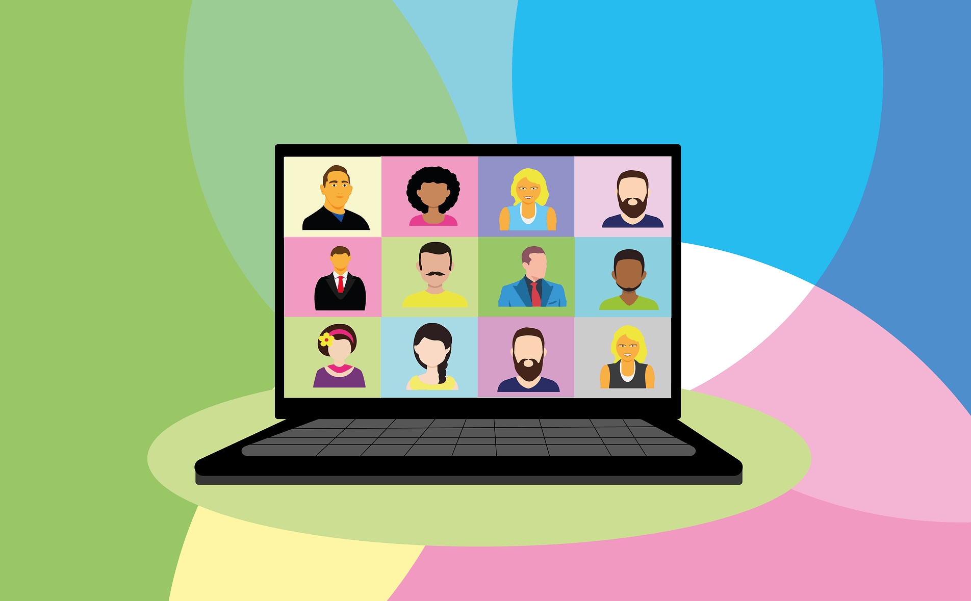 building digital connection through video chat and webinar