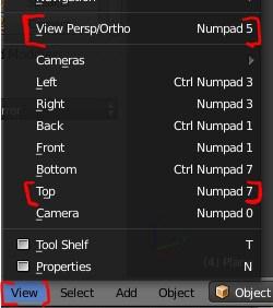 The view keys settings in Blender.
