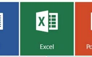 In order from left to right, there is the word icon, excel icon, and the powerpoint icon.