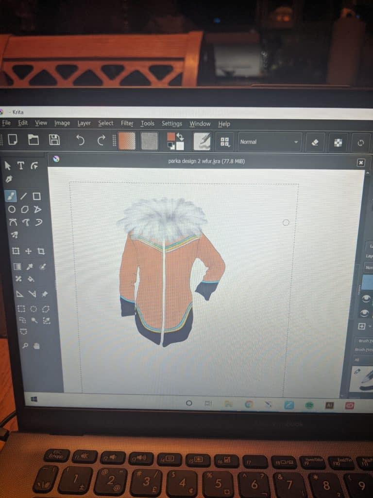 parka design for Inuit sewing group workshop