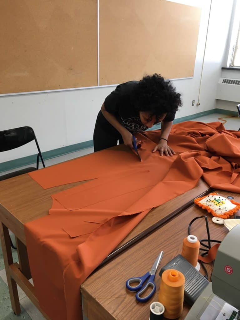 Parka making workshop with Inuit sewing group