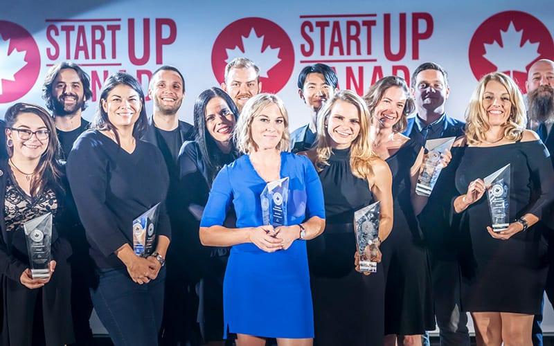 A group of award recipients at the Start Up Canada Awards.
